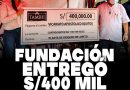 Fundación TAMSHI entrega cheque de 400,000 soles