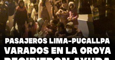 Pasajeros Lima-Pucallpa varados en la Oroya recibieron ayuda