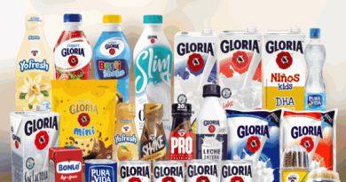 100% de leches y  yogures Gloria libres de octógonos
